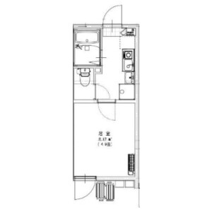 1R Apartment in Hayamiya - Nerima-ku Floorplan