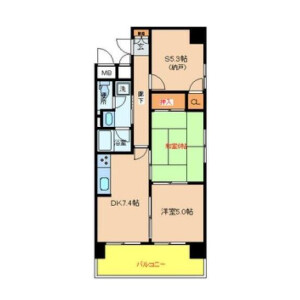 3DK Apartment in Shibaura(2-4-chome) - Minato-ku Floorplan