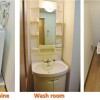 1R Apartment to Rent in Osaka-shi Chuo-ku Washroom