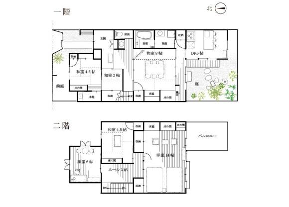 在京都市左京區內租賃5DK 獨棟住宅 的房產 房間格局