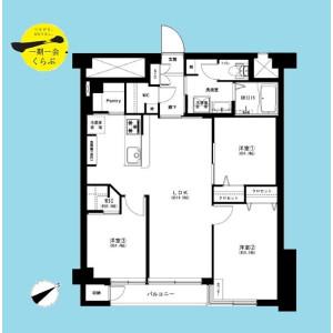 3LDK {building type} in Ichigayakagacho - Shinjuku-ku Floorplan
