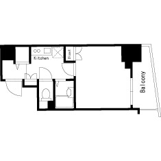 豊島區東池袋-1K公寓大廈 房間格局