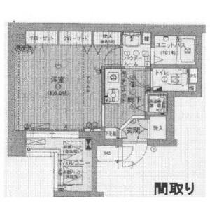 1K Mansion in Higashitemma - Osaka-shi Kita-ku Floorplan