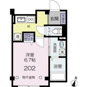 1K Mansion in Takadanobaba - Shinjuku-ku Floorplan