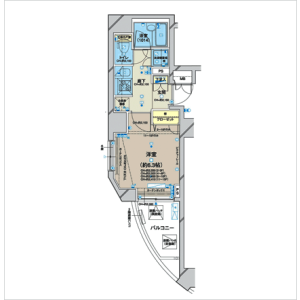 1K Mansion in Shimbashi - Minato-ku Floorplan