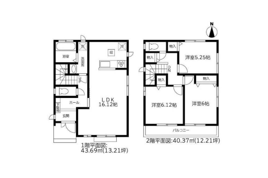 3LDK House to Buy in Mizuma-gun Oki-machi Floorplan