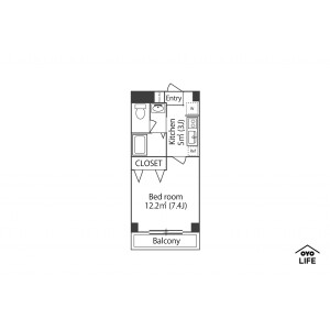 1K Mansion in Higashicho - Nishitokyo-shi Floorplan