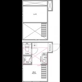 1R Apartment in Sugamo - Toshima-ku Floorplan