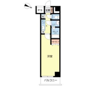 1K Mansion in Sakashita - Itabashi-ku Floorplan
