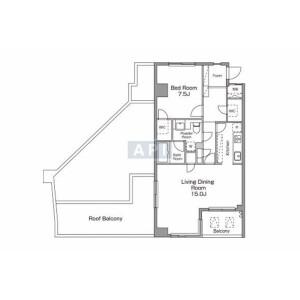 涩谷区恵比寿南-1LDK公寓大厦 楼层布局