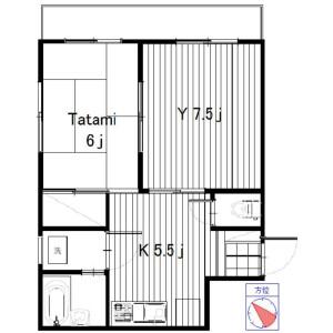 2K Apartment in Shinkoiwa - Katsushika-ku Floorplan