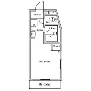 1R Apartment in Miharudai - Yokohama-shi Minami-ku Floorplan