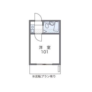1K Apartment in Kitakarasuyama - Setagaya-ku Floorplan