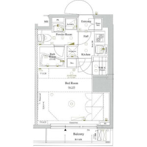 1K Apartment in Okubo - Shinjuku-ku Floorplan