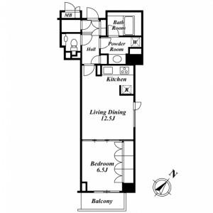 1LDK Mansion in Sarugakucho - Shibuya-ku Floorplan