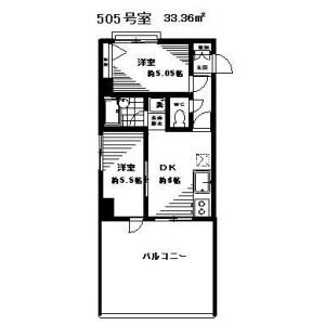 2DK Mansion in Negishi - Taito-ku Floorplan