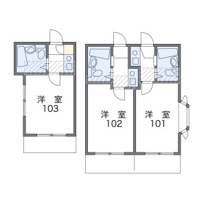 1K Mansion in Midoricho - Hachioji-shi Floorplan