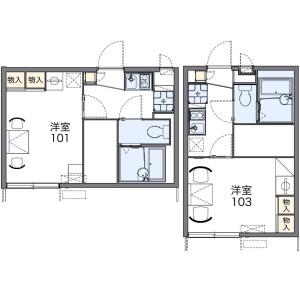 1K Apartment in Nishiikuta - Kawasaki-shi Tama-ku Floorplan
