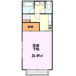 1K Apartment in Azumacho - Ageo-shi Floorplan