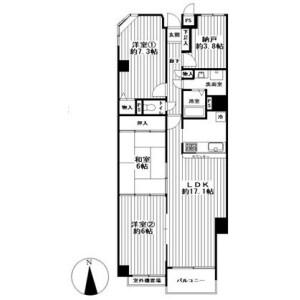 3SLDK {building type} in Koyamacho - Kyoto-shi Kamigyo-ku Floorplan