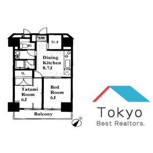 2DK Mansion in Kamiikebukuro - Toshima-ku Floorplan