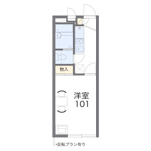 1K Apartment in Nakaikegami - Ota-ku Floorplan