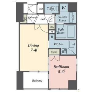 1DK Mansion in Sakuragaokacho - Shibuya-ku Floorplan