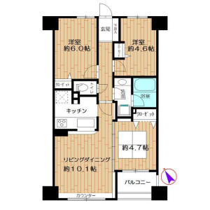 2LDK Apartment in Chojamachi - Yokohama-shi Naka-ku Floorplan