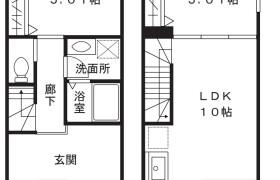 1SLDK Terrace house in Kuji - Kawasaki-shi Takatsu-ku
