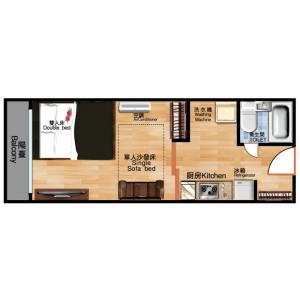 1DK Mansion in Ichigayachoenjimachi - Shinjuku-ku Floorplan