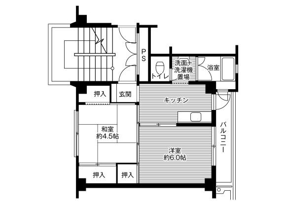 2K Apartment to Rent in Kashima-shi Floorplan