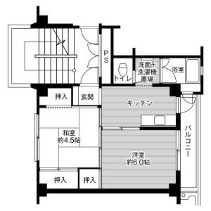 2K Mansion in Nagano - Gyoda-shi Floorplan