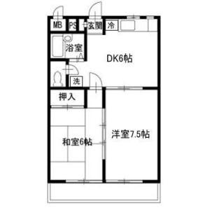 2DK Apartment in Renshoji - Odawara-shi Floorplan