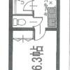 在涩谷区内租赁1K 公寓大厦 的 楼层布局