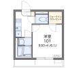 1K Apartment to Rent in Hiroshima-shi Minami-ku Floorplan