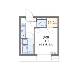 1K Mansion in Hijiyamacho - Hiroshima-shi Minami-ku Floorplan