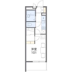 1K Mansion in Todacho - Hirakata-shi Floorplan