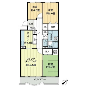 3LDK Mansion in Higiriyama - Yokohama-shi Konan-ku Floorplan