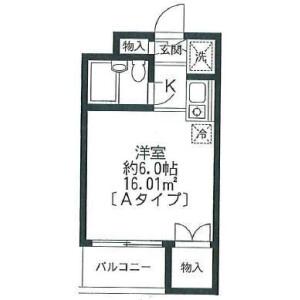 1R Mansion in Niijuku - Katsushika-ku Floorplan