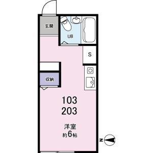 1R Apartment in Sanno - Ota-ku Floorplan