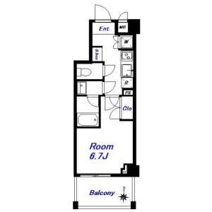 1K Mansion in Nishinippori - Arakawa-ku Floorplan