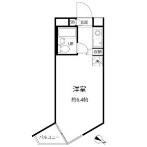 目黒区中目黒-1R公寓大厦 楼层布局