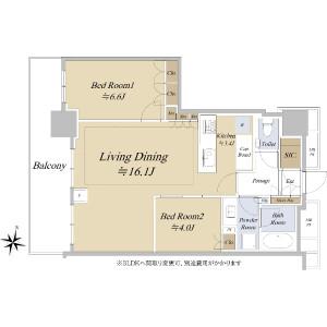 2LDK {building type} in Kandahigashimatsushitacho - Chiyoda-ku Floorplan