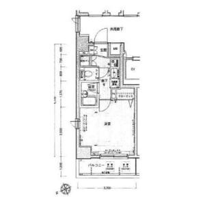 1K {building type} in Kaigan(1.2-chome) - Minato-ku Floorplan