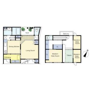 3LDK {building type} in Tanaka minamiokubocho - Kyoto-shi Sakyo-ku Floorplan
