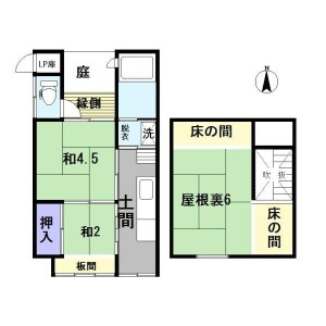 2SK {building type} in Kamiebisucho - Kyoto-shi Shimogyo-ku Floorplan