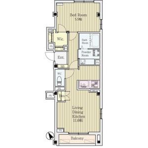 1LDK Mansion in Arai - Nakano-ku Floorplan