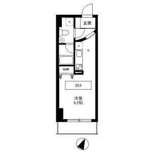 1R Mansion in Uenosakuragi - Taito-ku Floorplan