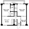 3DK Apartment to Rent in Kobe-shi Kita-ku Floorplan