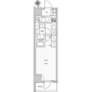 1K Apartment in Okubo - Shinjuku-ku Floorplan